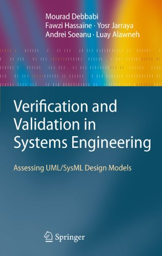 Download Verification and Validation in Systems Engineering: Assessing UML/SysML Design Models Pdf