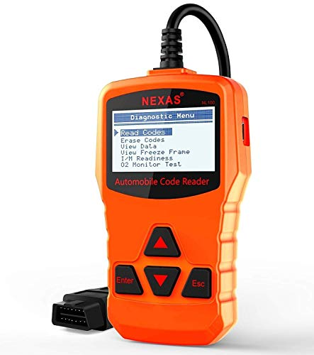 NEXAS Auto Code Reader Reset Engine Warning Light OBDII Scanner, Support  Emission Smog Check OBD2 Scan Tool with Fast Battery Test-Orange