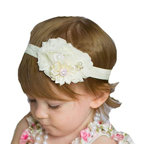 Lebo Baby Girl Baptism Headbands with Bows Newborn Christening Headwear
