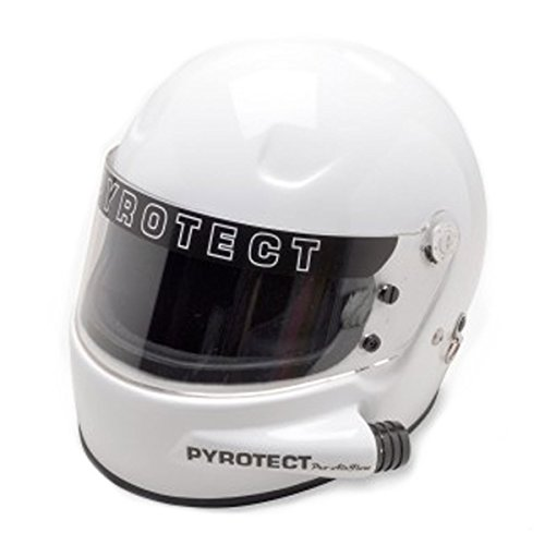 Pyrotect Forced Air Pro AirFlow Full Face Autocross / Marine / Kart Racing Helmet SA 2010 - White - X-Small