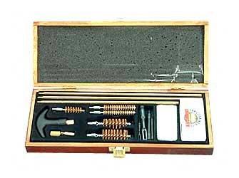 Gunmaster Universal Wooden Box Gun Cleaning Kit (18-Piece)