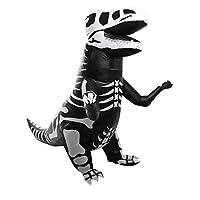 AOFITEE Adult Skeleton Inflatable T-Rex Dinosaur Costume Halloween Fancy Dress