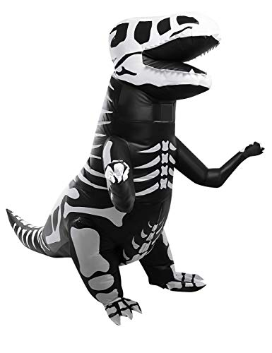 2 Person Halloween Costumes (AOFITEE Child Skeleton Inflatable T-Rex Dinosaur Costume Halloween Fancy Dress)