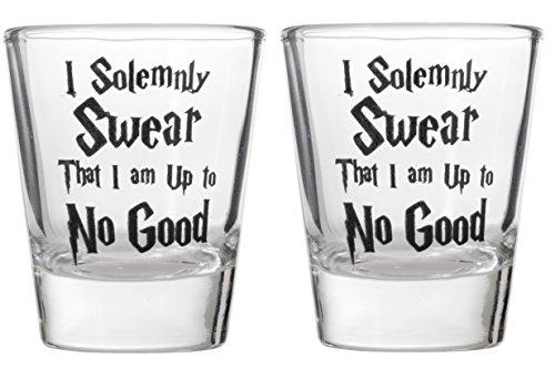 I Solemnly Swear That I Am Up To No Good Shot Glass Shotglasses (2) by Artisan Owl