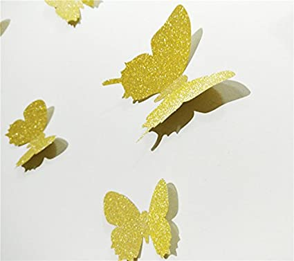 Amazon.com: YINGKAI Mariposa in Gossip Girl 12pcs/pack Shining Gold ...