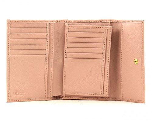 COCCINELLE Metallic Saffiano Flap Wallet Degas