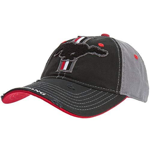 - Ford Men's Mustang Chenille Baseball Cap, Black, One Size