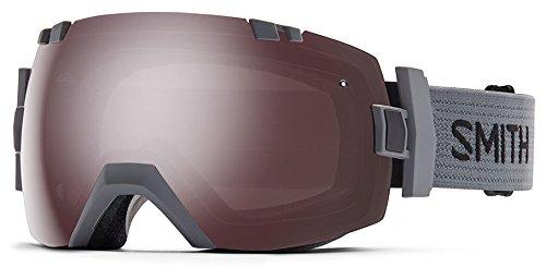 Smith Optics I/OX Adult Interchangable Series Snocross Snowmobile Goggles Eyewear - Charcoal/Ignitor Mirror / Medium/Large