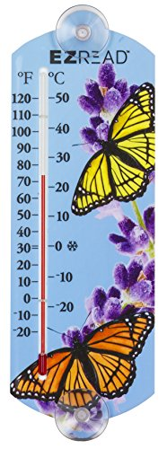 (Headwind Consumer Products 840-0058 EZREAD Indoor/Outdoor Thermometer with Butterfly 10