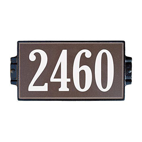 Chocolate Address Plaque 4 by Craftsman House Numbers
