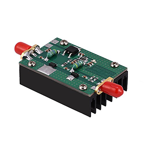 fosa RF Power Amplifier, 1MHz-700MHZ 3.2W HF VHF UHF FM Transmitter RF Low Noise Amplifier Module Broadband Power Adapter for Ham Radio