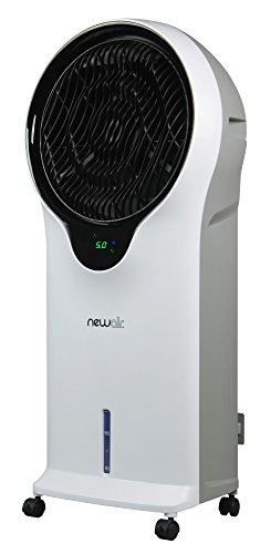 NewAir Portable Evaporative Air Cooler with Fan & Humidifer, Indoor Tower Fan, EC111W (New Air Portable Air Conditioner)