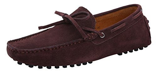 CFP 2081 Mens Flat Casual Loafers Slip-on Moccasins Driving Active Shoes Brown