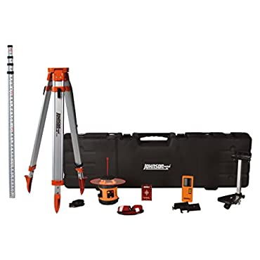 Johnson Level & Tool 99-026K Self Leveling Rotary Laser System, Hard Case Kit