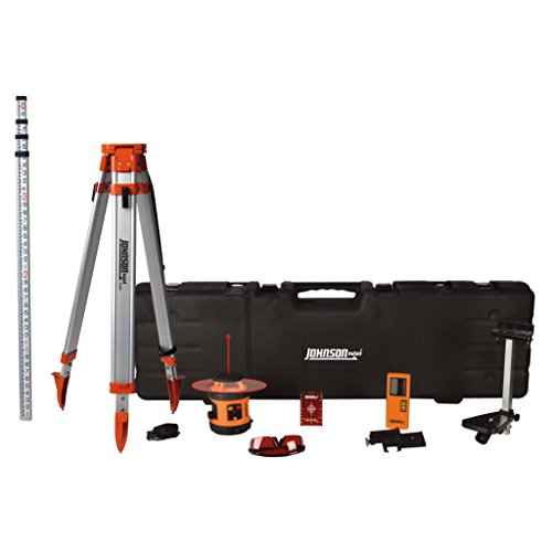 (Johnson Level & Tool 99-026K Self Leveling Rotary Laser System, Hard Case Kit)