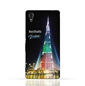 Sony Xperia Z3 TPU Silicone Case with Burj Khalifa Illuminated with UAE Flag Colors - Dubai Design