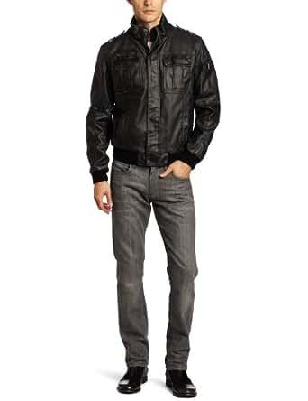 Calvin Klein Men's Moto Bomber Jacket, Black, Large