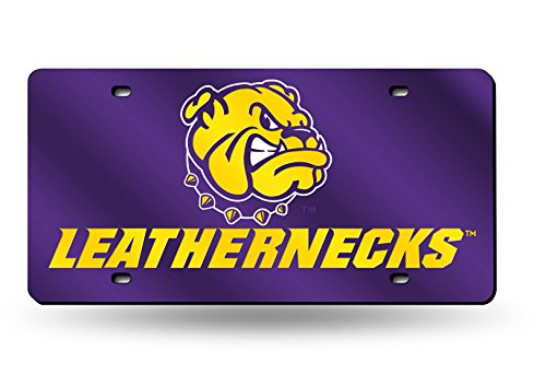 Purple LZC400901 Rico Industries NCAA Western Illinois Leathernecks Laser Inlaid Metal License Plate Tag 6 x 12 6 x 12 Inc