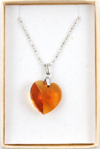 (Swarovski Elements Crystal Heart Pendant 18