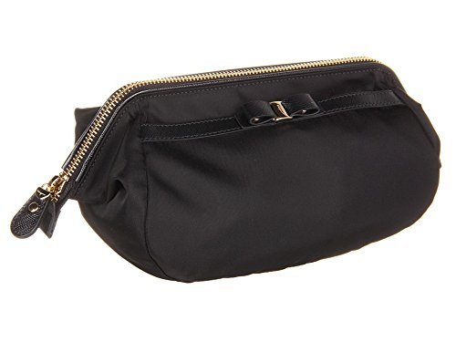 Salvatore Ferragamo Women's Vara Bow Cosmetic Case Nero by Salvatore Ferragamo