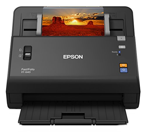 Epson FastFoto FF-640 High-Speed Photo Scanning System with Auto Photo Feeder (Renewed) (Feeder Scanner Picture)