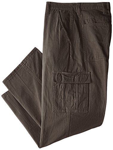 (Wrangler Authentics Men's Big & Tall Classic Twill Relaxed Fit Cargo Pant, Olive Drab, 46 x 30)