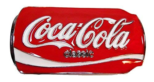 (Coca Cola Classic Can Design Metal/Enamel Belt)