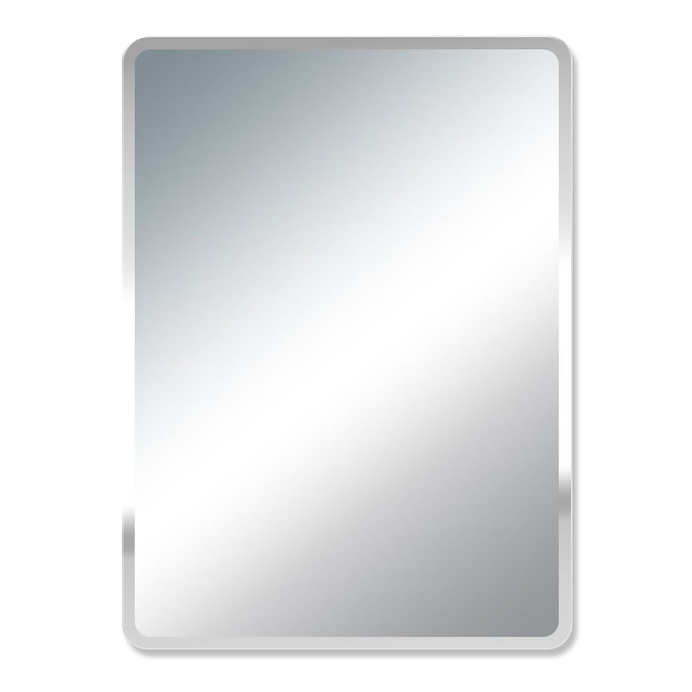 GUOWEI Mirror Frameless Explosion-Proof Rectangle High-Definition Wall Mounted Bathroom Makeup Silver (Color : Silver, Size : 45x35x0.5cm)