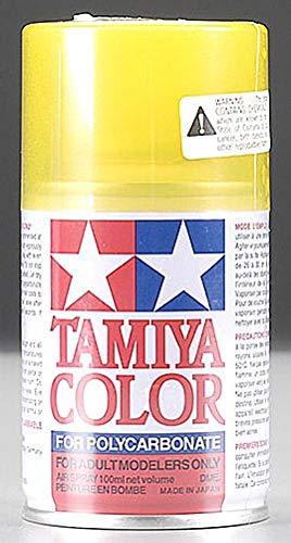 Tamiya America, Inc Polycarbonate PS-42 Translucent Yellow, Spray 100 ml, TAM86042 (Stained Glass Krylon)