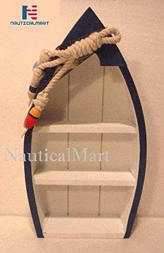 Standing Blue amp White Shelf Boat Nautical Decor Fishing Cabin Ocean Lake Cottage by NAUTICALMART