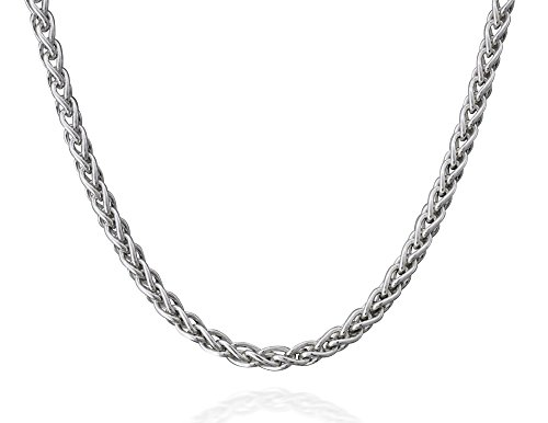 Italian Sterling Silver Wheat Necklace product image