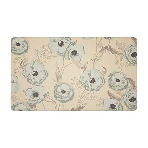 "Cheap Laura Ashley Poppy Meadow Primrose Anti-Fatigue Comfort 20"" x 32"" Kitchen Mat hot sale"