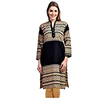 Hazle Avenue Ethnicwear High Neck printed Full Sleeves Women's Kurti Dress