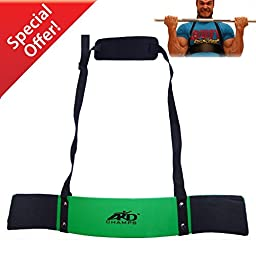 ARD CHAMPS Heavy Duty Arm Blaster Body Building Bomber Bicep Curl Triceps Green New