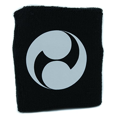 YDS Accessoires Futatsudomoe Two Fold Tomoe Wristband Sweatband Martial Arts Clothing Japanese Symbol