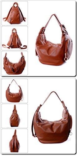 Deal Especial - Bolso mochila  de Piel Vuelta para mujer multicolor multicolor talla única marrón