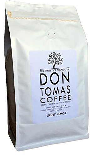Light Roast (2 LBS) Coffee Beans Don Tomas Nicaraguan Coffee - NEW 2017 Harvest