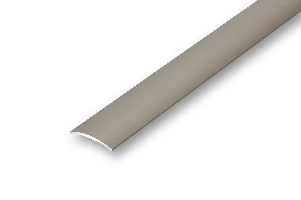 /Übergangsprofil 30 mm gew/ölbt gebohrt in 6 Eloxalfarben T/ürprofil Schweller Ausgleichsprofil 1000 mm gebohrt, silber
