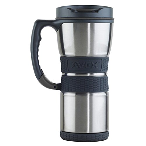 Avex Extreme Travel Mug, Stainless and Charcoal, 16-Ounce by Avex