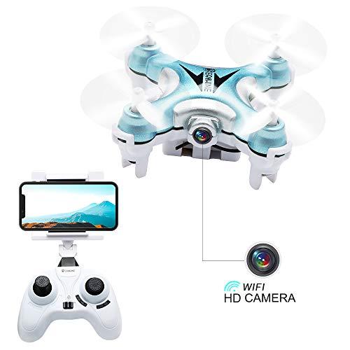 Mini Quadcopter Drone with Camera Live Video, EACHINE E10W Wifi FPV Mini Quadcopter with HD Camera Selfie Pocked Drone RTF - 3D Flip, APP Control, Headless mode, One-key Return, LED Lights