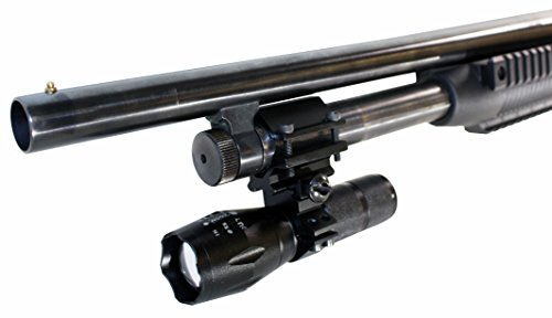 TRINITY 12 Gauge Shotgun Barrel/Magazine Single rail Mounted Tactical 1000 lumen Strobe LED Flashlight.