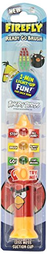 Firefly Angry Birds Ready Go Brush with Suction Cup Blister (2 Pack Bird Cups)
