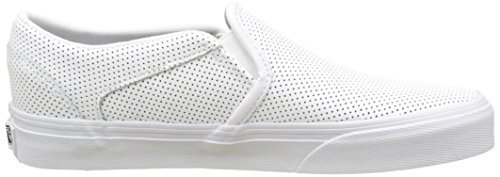 Vans Wm Asher, Zapatillas para Mujer Blanco (Perf Leather White)