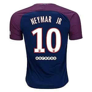 Amazon.com : NEYMAR JR #10 PARIS SAINT-GERMAIN # PSG 17/18 Home Soccer Jersey Men's Color Blue ...