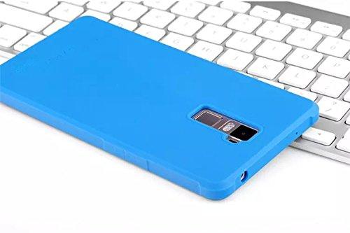 OPPO R9 Funda - Litastore Serie Negocios Shell a Prueba de Golpes Resistente Protector Suave Silicona Detrás Caso Para Cubierta OPPO R9 - Azul Cielo azul
