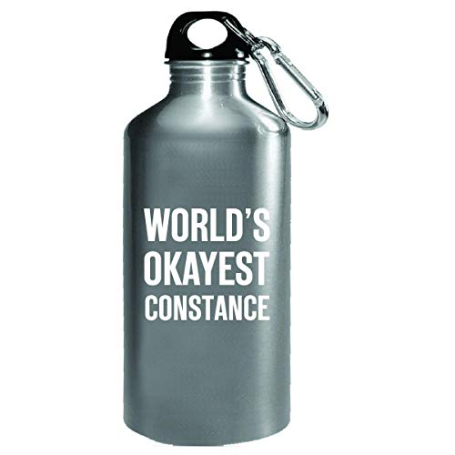 (World's Okayest Constance Funny Gift For Constance - Water Bottle )