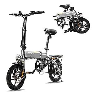 4177Oc3mamS. SS300 HITWAY elettrica E Bike Bici da città Bicicletta pieghevole Bicicletta in alluminio aerospaziale, batteria da 7,5 Ah, motore da 250 W, portata fino a 45 km BK3-HW