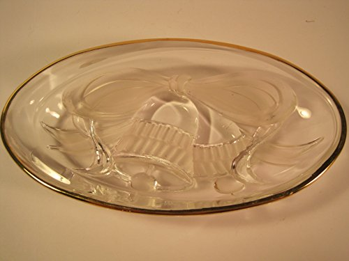 Candy Dish Bell (Mikasa Clear and Frosted Glass Candy Dish, Christmas Bells, 7 Inches)