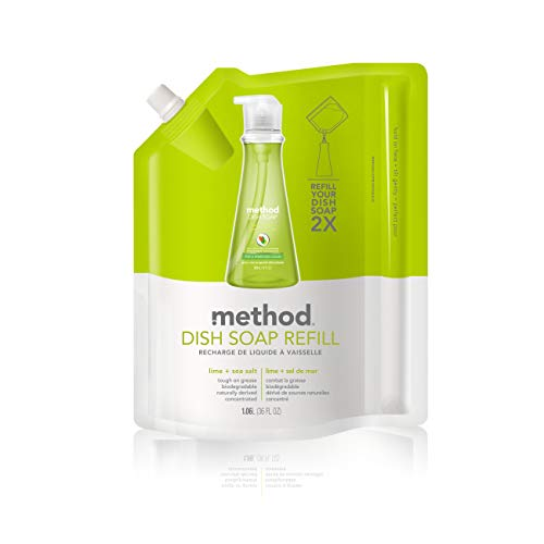 (Method Dish Soap Refill, Lime Plus Sea Salt, 36 Ounces, 6 Count)