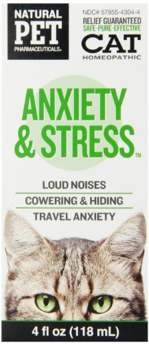 Natural Pet Pharmaceuticals by King Bio Anxiety and Stress Control for Cat, 4-Ounce